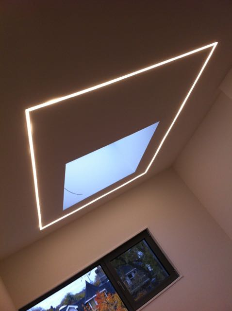 how to add led lighting strips on ceiling