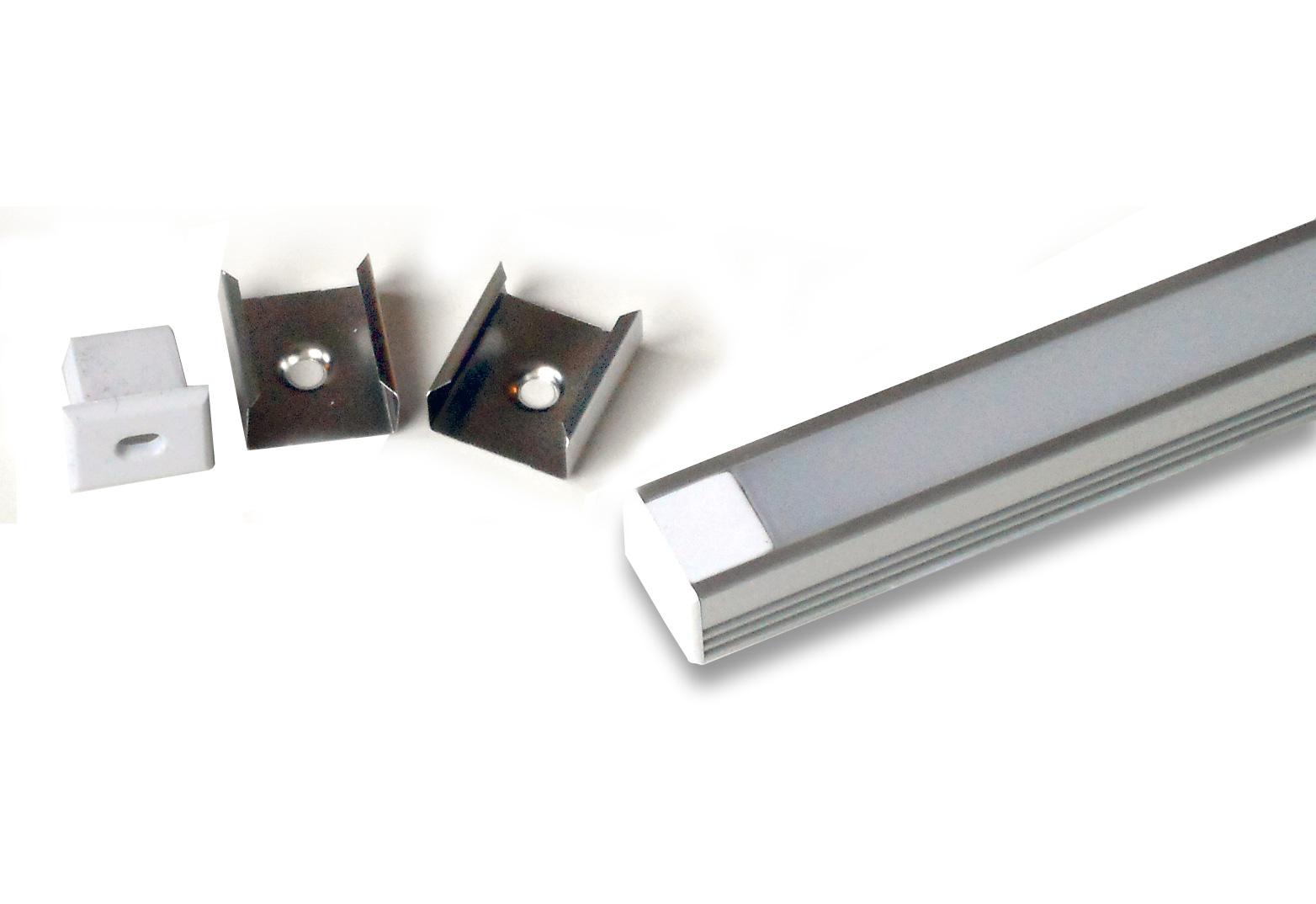 Aluminum Channel For Flexible Strip Surface Mount