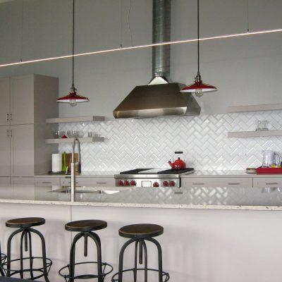 Slipstream Suspended LED Bar in Kitchen