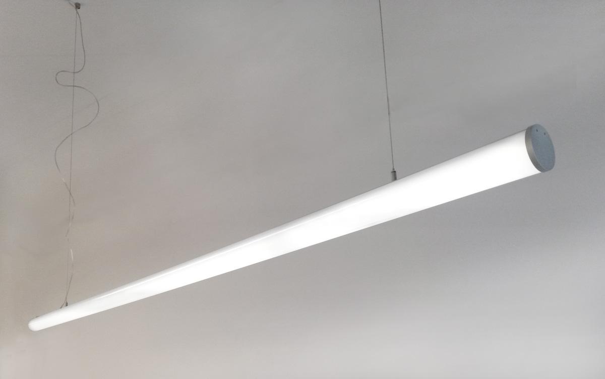 Suspended Led Tube Lights 4 Sizes Lumicrest High Cri