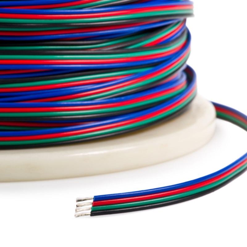 rgb 4 conductor wire 22 gauge lumicrest high cri led lighting