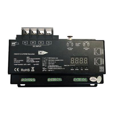 DMX:RDM Decoder - 12 Channel