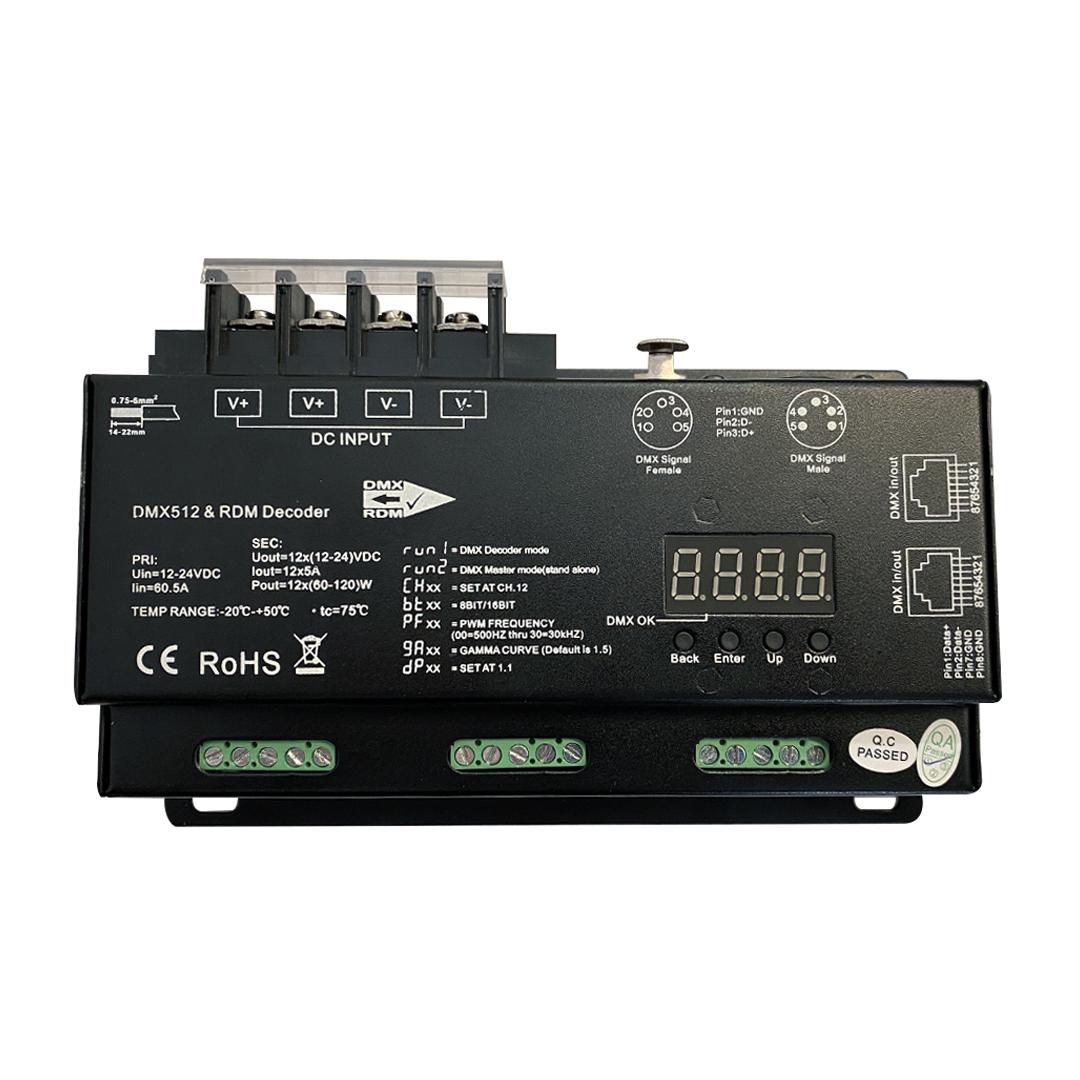 DMX:RDM Decoder - 12 Channel