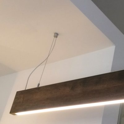 LED Suspended Wooden Light