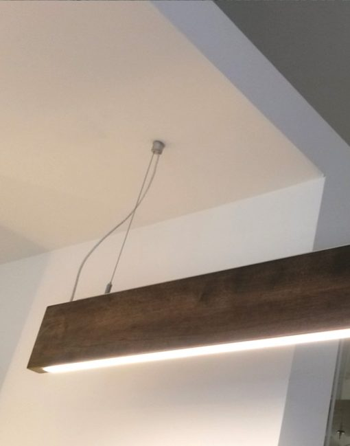 LED Suspended Wooden Light
