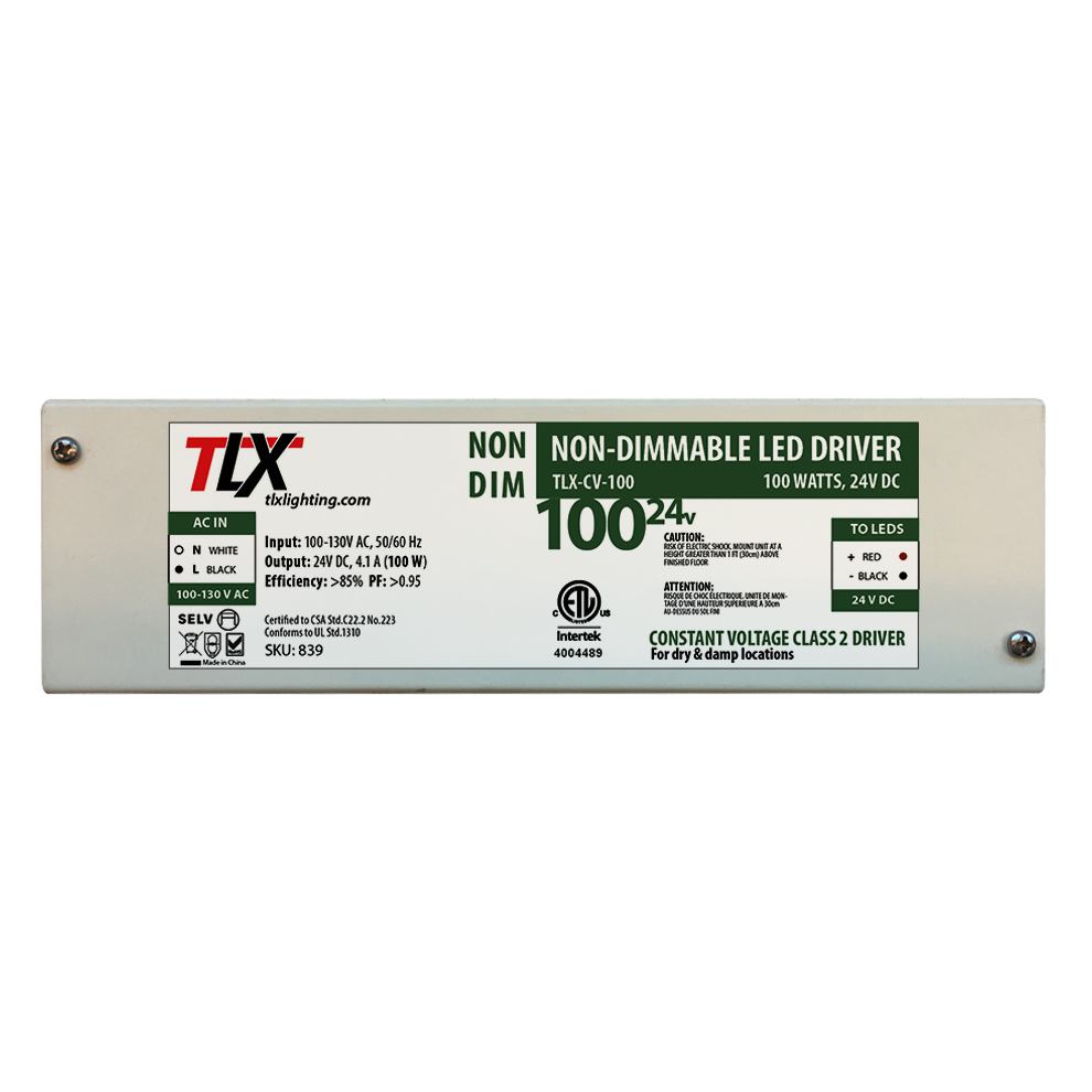 24V DC 100W Non Dimmable Power Supply