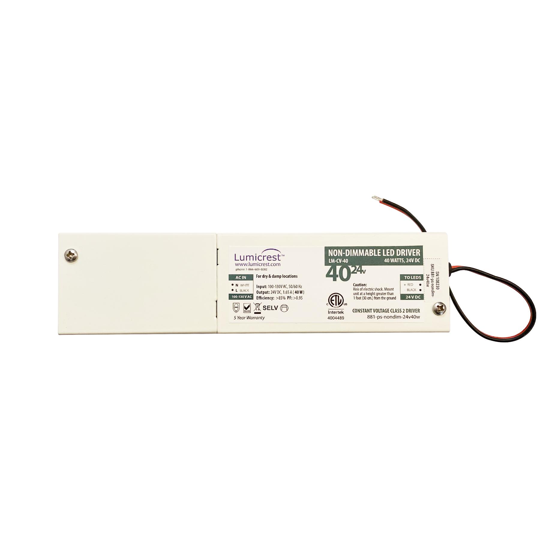 24v 40 watt Power Supply for LED Strip