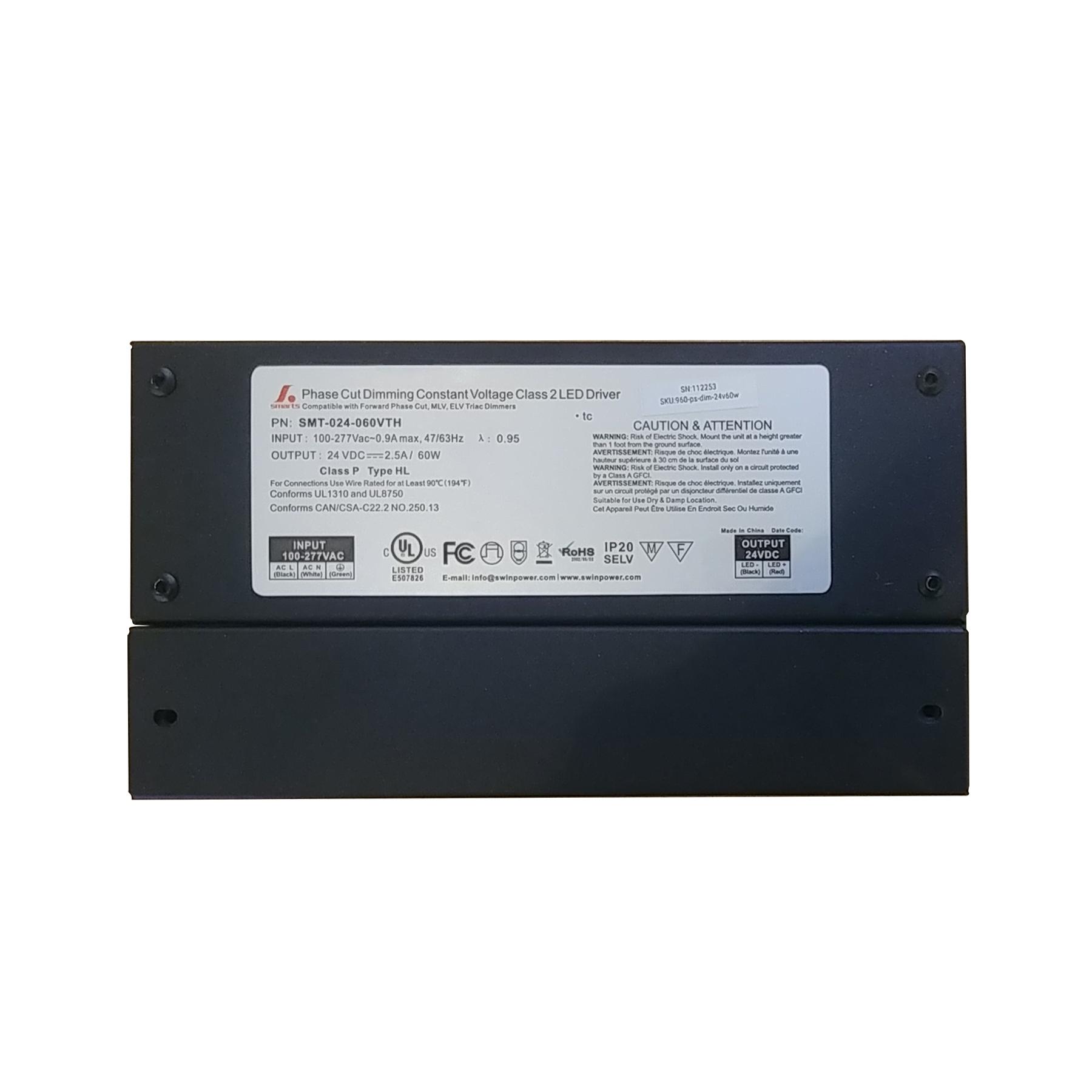 60 watt AC Dimmable power supply